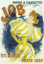 Art Deco JOB Rolling Paper Paris 1889 Cigarette A3 Art Poster Print