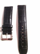 Black Leather Watch Band 22mm for Baume Mercier Classima Model Watches