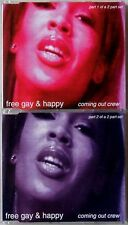 COMING OUT CREW * FREE GAY & HAPPY * UK 2 CD SET * MEGA RARE! * GAY INTEREST