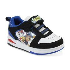 Paw Patrol Shoes Toddler Boy SIZE 8 Light Up Black/Blue NEW! Boy's Skate Shoe