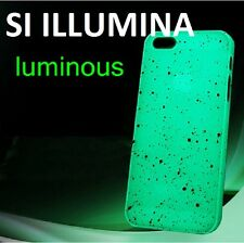 CUSTODIA COVER RIGIDA FLUORESCENTE SI ILLUMINA X APPLE IPHONE 4 E 4 S +PELLICOLa