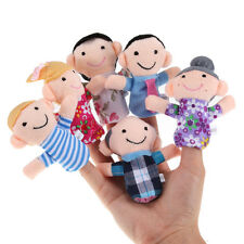 6 Family Finger Puppet Cloth Doll Baby Early Educational Hand Toy Story Kid Gift