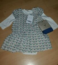 BABY GIRLS 3 PIECE BUTTERFLY DRESS OUTFIT AGE 0-3 MTHS NEXT BNWT  XMAS GIFT