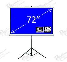 """New 72"""" Portable Tripod Projection Screen home cinema Projector Glass Bead 16:9"""