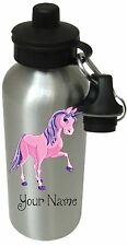 Personalised unicorn Drinks, Water Bottle, Beaker Girl School, Sport