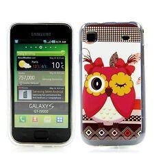 Samsung Galaxy s1 i9000 9001 de silicona, funda protectora, estuche, cover Blink LECHUZA BÚHO