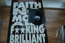 Faith No More Falling To Pieces POSTER BAG SUPERB AUDIO!! COMPLETE 1990 UK 12""
