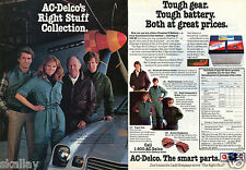 1983 2 Page Print Ad of AC Delco Car Parts with Chuck Yeager