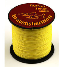 Bravefishermen Dyneema 100M 109Yards Test PE Braided Fishing Line 10 30 50 100LB