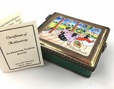 Kelvin Chen Hand Painted ENAMEL Trinket Box ~ after PAUL GAUGUIN  Midday Nap
