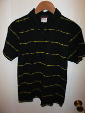 Lethal Entertainment Italy Barbed Wire Fence Design Men's Blue Polo Shirt Small