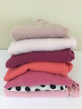 100% Cashmere Cutter Sweaters Lot Of 7 Pink Blush Solid Black White Polka Dot