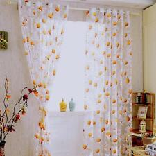 Sunflower Sheer Curtain Panel Decorative Window Gauze Fabric for Living Room