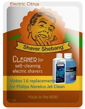 1.6 Philips Norelco Jet Clean HQ200 Bottle Replacements-Electric Citrus