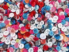 100pcs Button Vintage Gingham Glitter Clear Sewing Scrapbooking Lady Assorted