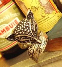 FD360 Vintage Retro Bronze Fox Style Princess Queen Ring Women Girl Ring ~1pc~