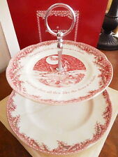 Johnson Bros TWAS THE NIGHT BEFORE CHRISTMAS 2 Tier Cake Serving Stand  NEW/BOX!