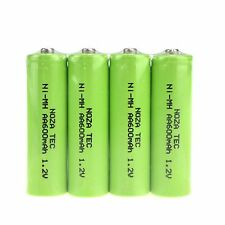 AA Ni-MH 600mAh 1.2V Rechargeable Batteries (4-Pack) - Solar Lamp Replacement