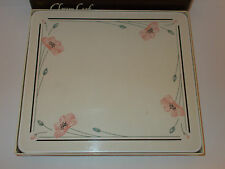 6 x Clover Leaf Cork Backed Summerfields C167 Floral Table mats - Lovely