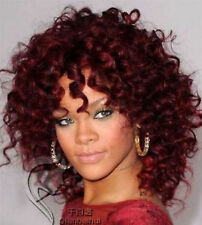 sexy fashion women red curly natural hair short wine full wigs