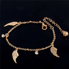 18K Gold Plated Wings Crystal Pendant Tassel Fashion New Foot Chain Anklet