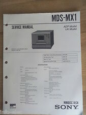 Schema SONY - Service Manual Minidisc Deck MDS-MX1 MDSMX1