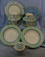 Johnson Brothers Blue Savanna-Lot 14 pcs-Dinner Salad Plates Bowls Sugar Cup Sau