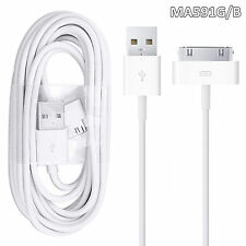 100% GENUINE APPLE iPHONE 4 4S 3G 3GS IPOD & iPAD 2 & 1 CHARGER USB LEAD CABLE