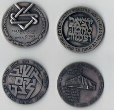 8  Medals Commemorating The Holocaust  Getto fighters & Partisans .