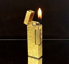 1973 dunhill ROLLAGAS Gold Florentine model Lighter - SERVICED & Guaranteed