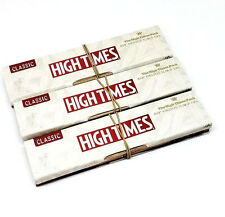Raw High Times Rolling Papers Kingsize Slim and Tips- 3 Packs Classic - Limited
