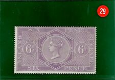 RED29 GB Postal Fiscal QV 6d Inland Revenue fine fresh mint SG.F17 cat £110