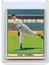 1941 PLAY BALL #6 CARL HUBBELL BASEBALL CARD, NEW YORK GIANTS, HOF