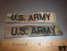 US Army set of two pocket patches US ARMY, with hook n loop back, NEW