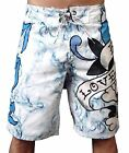 "Ed Hardy ""Love Kills Slowly"" Board Shorts, White"