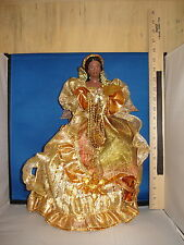 Tree Topper Angel with Brilliant Gold Dress 47876  517