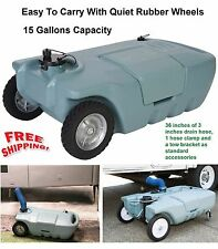 Tank Water Waste RV Trailer Portable Sewer Black Gray Tote Exterior Camper Carry