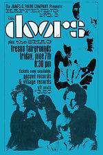 Psychedelic:  The Doors at Fresno Fairgrounds Concert Poster 1968 2nd Print