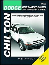 Chilton Repair Manual Dodge Durango & Dakota, 2001-04