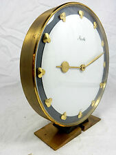 Schöne mechanische 60´s Desigm MAUTHE Tischuhr / table clock 20 cm working