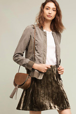 NWT Anthropologie Vista Bomber Jacket Military Green By Marrakech Size M