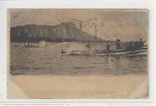 1907 Pahala Hawaii PPC Outrigger Canoe Races
