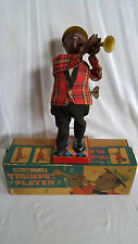 Black Americana Wind Up Toy  Louis Armstron Trumpet Player by Nomura Rosko