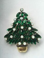 Vintage Estate Signed Weiss Christmas Tree Brooch Pin