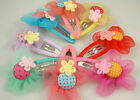 "Wholesale 5pcs girl baby toddler 2""boutique Hair Bow mixed ribbon with clips e6o"
