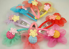 """Wholesale 5pcs girl baby toddler 2""""boutique Hair Bow mixed ribbon with clips e6J"""