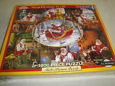 NEW FACTORY SEALED 1000 PCS. WHITE MOUNTAIN MERRY CHRISTMAS TO ALL PUZZLE