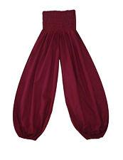 Bequeme Yogahose Pluderhose Pumphose Größe 36-38 bordeaux Baumwolle INDIEN YOGA