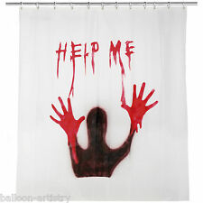 1.8m Halloween Horror Bloody Help Me Shower Curtain Party Decoration