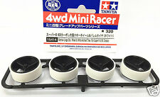 TAMIYA MINI 4WD Customize Trimmed Low Profile Tires 1.5mm+Large Dia Wheels 15414